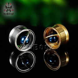 2019 Planet Design Ear Gauge and Body Piercing Jewelry Earrings Ear Tunnel 2pcs