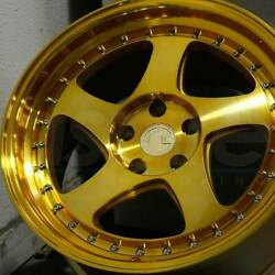 18x9.5 Gold Machined Face 18