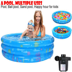 Inflatable SwimmingBall Pool Summer Family Kids Water Play Fun With Air Pump