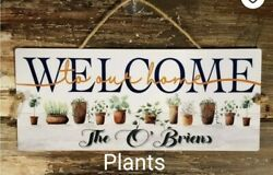 3 sizes Personalized Home welcome sign plants house gift indoor outdoor sign