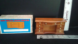 Vintage Dollhouse Handcrafted Wooden Traditional Desk in original box $24.00