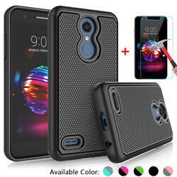 For LG K30 Premier Pro LTE Xpression Plus Case Cover with Glass Screen Protector $5.98