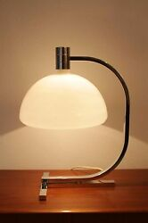 Huge FRANCO ALBINI mid century table desk Lamp Modern Design 50s Sirrah glass