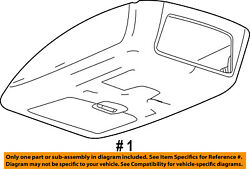 FORD OEM 08-10 F-350 Super Duty-Overhead Roof Console 8C3Z25519A70AD