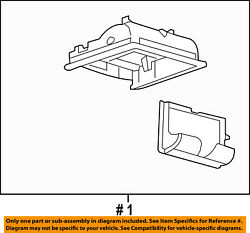 FORD OEM 07-08 Edge-Overhead Roof Console 7T4Z78519A70BA
