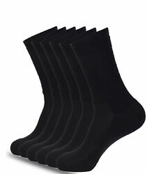 Mens Athletic Crew Socks 6-Pk Cushioned Sole Arch Support Size (8-12  $15.99