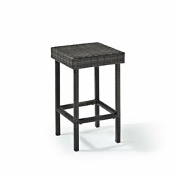 Crosley Furniture Palm Harbor All Weather Wicker Outdoor Counter Height Side