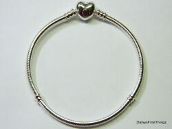 NEWTAGS AUTHENTIC PANDORA SILVER BRACELET HEART CLASP #590719 MULTIPLE SIZES