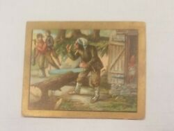 1910 T57 Turkish Trophies Fable Series  THE FOX AND THE WOODSMAN Tobacco EX