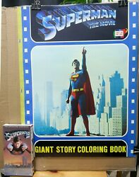 Superman The Movie GIANT Coloring Book 1978 17 x 22 inches by Joe Staton RARE!