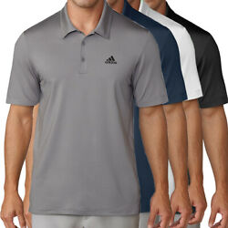 Adidas Golf Men's Chest Logo Solid Polo Shirt New
