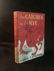THE CATCHER IN THE RYE - J. D. Salinger -1951  Dust jacket  No ex Book Clubia