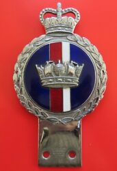 THE  ROYAL  NAVY    SUPERB  CAR  BADGE  made by  J. R. GAUNT    OLD  USED