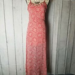 Sun & Shadow Coral Boho Maxi Dress- Nordstrom- Size M