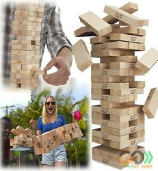 Jenga Game Small Yard Classic Wood Block Picnic Party Pool Tower Lawn Outdoor