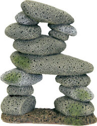 Blue Ribbon Pet Products-Exotic Environments Tall Pebble Archway- Gray Large