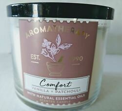 Bath & Body Works Candle Aromatherapy Comfort Vanilla and Patchouli 14.5 oz NEW