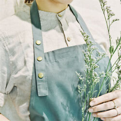 Cotton Green Aprons for Women with Pockets Kitchen Cooking Art Kitchen Home $7.99