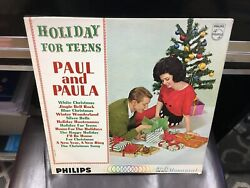 Paul and Paula Holiday For Teens LP Philips MONO VG Christmas $9.95