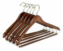Quality Hangers Wooden Hangers Beautiful Sturdy Suit Coat Hangers with Locking