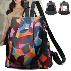 Women Lady Backpack Purse Anti-Theft Rucksack Waterproof Oxford Cloth School Bag