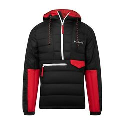 Columbia 1801171013 Men's BlackRed Norwester Anorak II Size X-Large