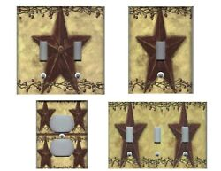 COUNTRY PRIMITIVE BARN STAR COUNTRY HOME DECOR LIGHT SWITCH PLATES OR OUTLETS $6.49