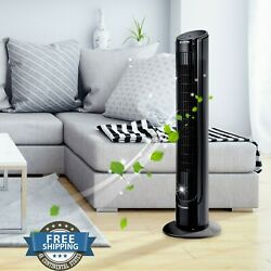 Tower Fan Bladeless Oscillating Cooling Air Floor Office Home 3 Speed w Remote $79.99