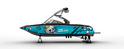 GRAPHIC KIT DECAL BOAT SPORTSTER SEA DOO SPEEDSTER SPORT vinyl WRAP THE SICK CAT