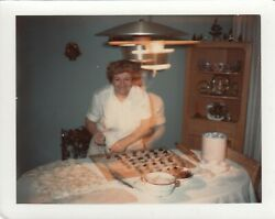 Vintage Snapshot Blurry Out Of Body Grandma Baking Abstract Surreal Photo