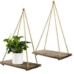 Wooden Retro Hanging Rack Stand Shelf Plant Support Nordic Style Wall Home Decor