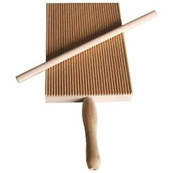Garganelli Stripper Board Natural Beechwood Wooden Gnocchi Making Made In Italy