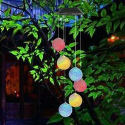 Large LED Solar Outdoor Lights Colorful Wind Chimes Gift Yard Garden Home Decor