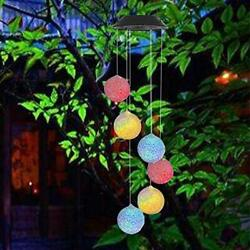 Large LED Solar Outdoor Lights Colorful Wind Chimes Gift Yard Garden Home Decor $13.49