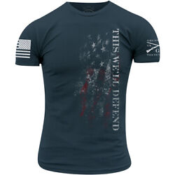 Grunt Style This We#x27;ll Defend Flag 2.0 T Shirt Blue $20.39