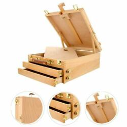 Large Artist Wood Tabletop Easel Floor with Drawer Portable Display Art Painting $36.49