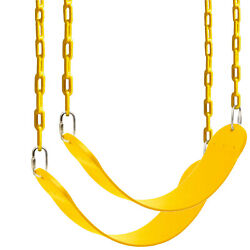 2 Pack Outdoor Heavy Duty Swing Seat Set Kids Play Hanging Replacement w Chains $31.70