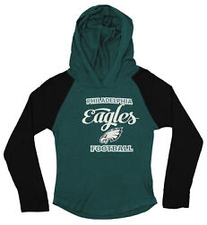 OuterStuff NFL Youth Girls Long Sleeve Hooded Shirt Philadelphia Eagles $17.50
