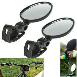 2-pack Mini Rotaty Handlebar Glass Rear view Mirror for Road Bike Bicycle US $6.95