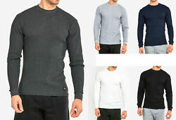 Men#x27;s Thermal Shirt Long Sleeve Medium Weight Waffle Knit Warm Layering $13.49