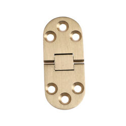 Solid Brass Butler Tray Hinge Round Folding Edge Hardware Parts ^D