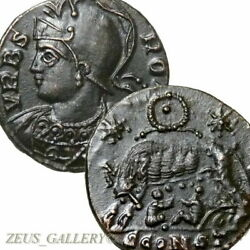 Rarest r5 in RIC SHE WOLF Twins ROMULUS CONSTANTINE The GREAT Ancient Roman Coin
