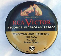Vintage RCA Victor Record Brush Cleaner Duster Nipper Dog Victrola Everett WA