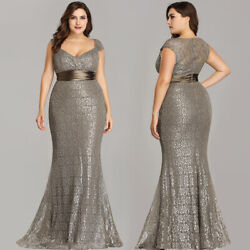 Ever-Pretty US Plus Size Womens Mermaid Bodycon Prom Gowns Long Evening Dresses $44.99