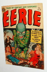 1952 EERIE ALIEN MONSTER COVER ISSUE #8 COMIC BOOK GOOD COMPLETE