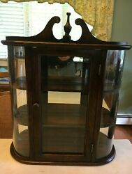 Butler Specialty Co Large Tabletop Or Wall Hanging Wooden Curio Cabinet Vintage