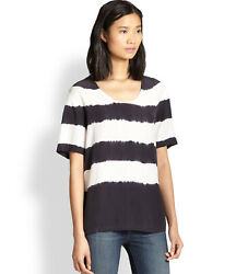 EQUIPMENT SILK CAMERON TEE   S  Small    BLACK TOP BLOUSE   $218    NEW
