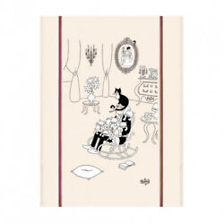 Torchons amp; Bouchons DUBOUT Art Kitchen Dish Towel French Cats Nap La Sieste Gift $14.99