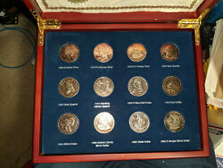 Collectors A Tribute To America's Greatest Silver Coins Wooden Case Certificate