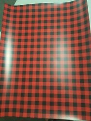11x14 SMALL Buffalo Plaid HTV Heat Transfer Printed Tshirt Craft Vinyl Sheet